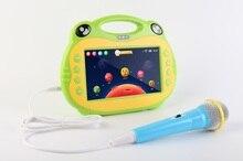 Android 7 pulgadas tablet Kids máquina de karaoke 2 sistema de Micrófono Dual HDMI jack y descarga APP gratuita Children learning tablet