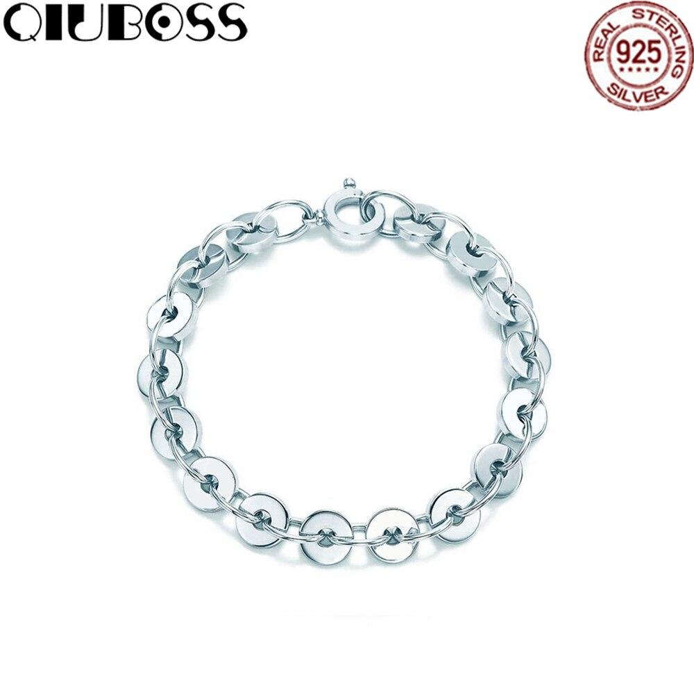 QIUBOSS Tiffany925silver Letters Lettering Ring Link Bracelet Sterling Silver Bracelet Jewelry 19710408 qiuboss tiffany925silver letters lettering ring link bracelet sterling silver bracelet jewelry 19710408