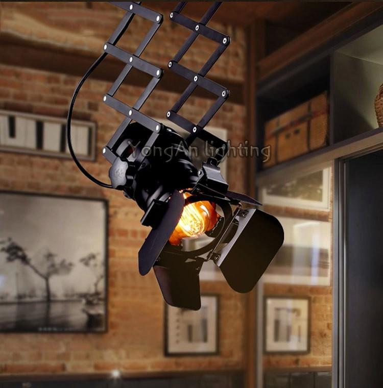 free shipping Designer loft vintage industrial lighting foldable lamp pendant lamp 10