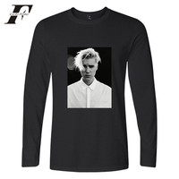 LUCKYFRIDAYF Justin Bieber 2017 Super Star A Maniche Lunghe t-shirt Uomo/Donna Primavera Autunno Fredde Kpop Hiphop Tee Shirt Plus dimensione 4xl