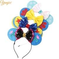 d68d1f2e400 12pcs lot Glitter Star Felt Minnie Mouse Ears Hairband For Girls 2019  Christmas Headband for