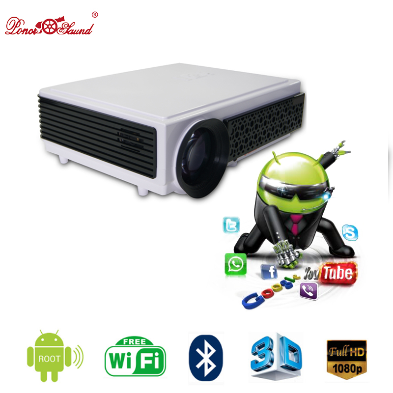 Poner Saund Full Hd New Mini Projector Proyector Led Lcd: Poner Saund Proyector Full HD Tv Led 3D Projector Home