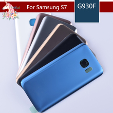 For Samsung Galaxy S7 G930 G930F S7 Edge G935 G935F Housing Battery Cover Door Rear Chassis Back Case Housing Glass Replacement аксессуар чехол samsung galaxy s7 edge g930f melkco black lc 9254