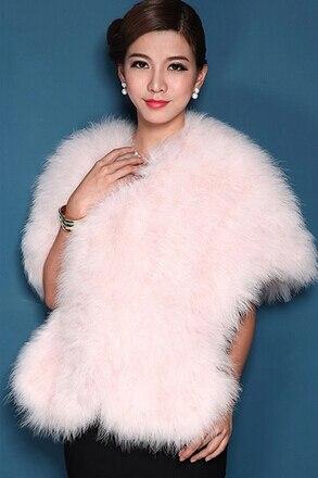 Женская Роскошная шаль из натурального страусиного пера, шаль из пашмины, свадебная шаль, Модный меховой палантин, роскошный шаль, PC15052301 - Цвет: beige