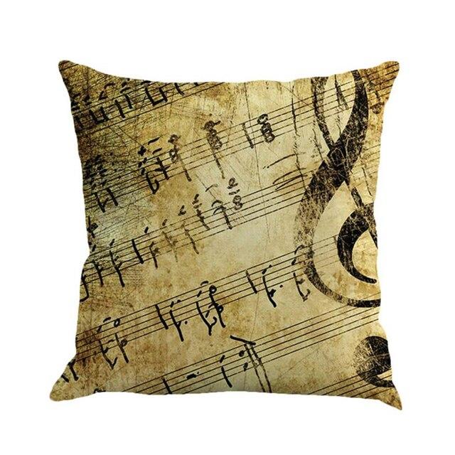Cuscino decorativo covers Nota Musicale Pittura Lino Cuscino Cuscino di Tiro sor