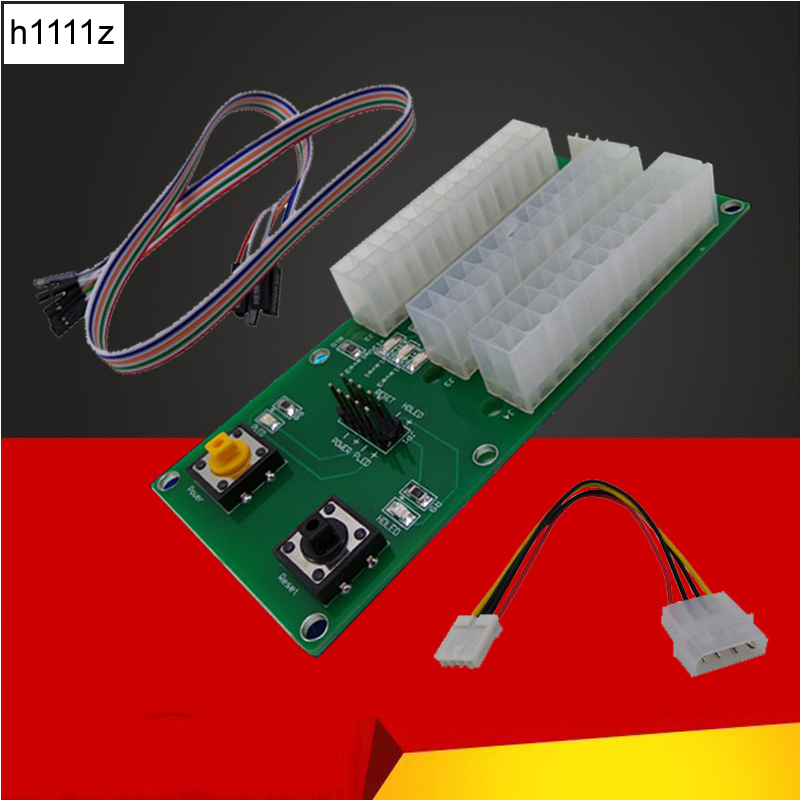 Dual and Three Power Supply Synchronous Starter Board 4PIN IDE 24PIN Cable with Switch Extender Cable Card For BTC Miner Mining