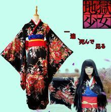 Jigoku Shoujo Enma Ai Maid Dress Kimono Yukata Uniform Outfit Anime Cosplay Costumes printio ai enma hell girl