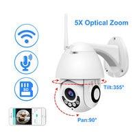 1080P Wifi IP Camera Outdoor Two Way Audio PTZ 5X Optical Zoom Night Vision IR 60M Wireless Security Speed Dome Camera P2P