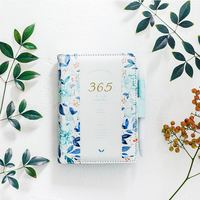Dumei Flower Notebook Gift Box PU Leather Diary Weekly Planner Notebook School Office Supplies Stationery for Birthday Gift