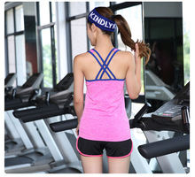 Women Sports Bra Singlet For Running Gym Cotton Padded Yoga Shirt Women Vest Top Wirefree Push