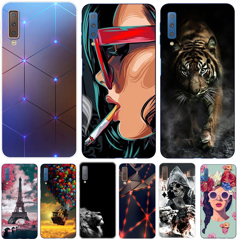 Coque For <font><b>Samsung</b></font> A7 2018 Case <font><b>A70</b></font> 2019 Printing Silicone Cover Soft TPU Phone Case For <font><b>Samsung</b></font> Galaxy A7 2018 <font><b>A70</b></font> 2019 <font><b>Hoesje</b></font> image