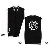 Bling 182 Jacket Famouse Punk Pop Music Team Tops Brand Dress Fashion Baseball Uniform