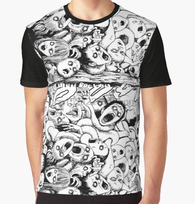 da963bad196 Uzumaki Junji Ito T Shirt Horror Manga T Shirt Short Sleeve Men T ...