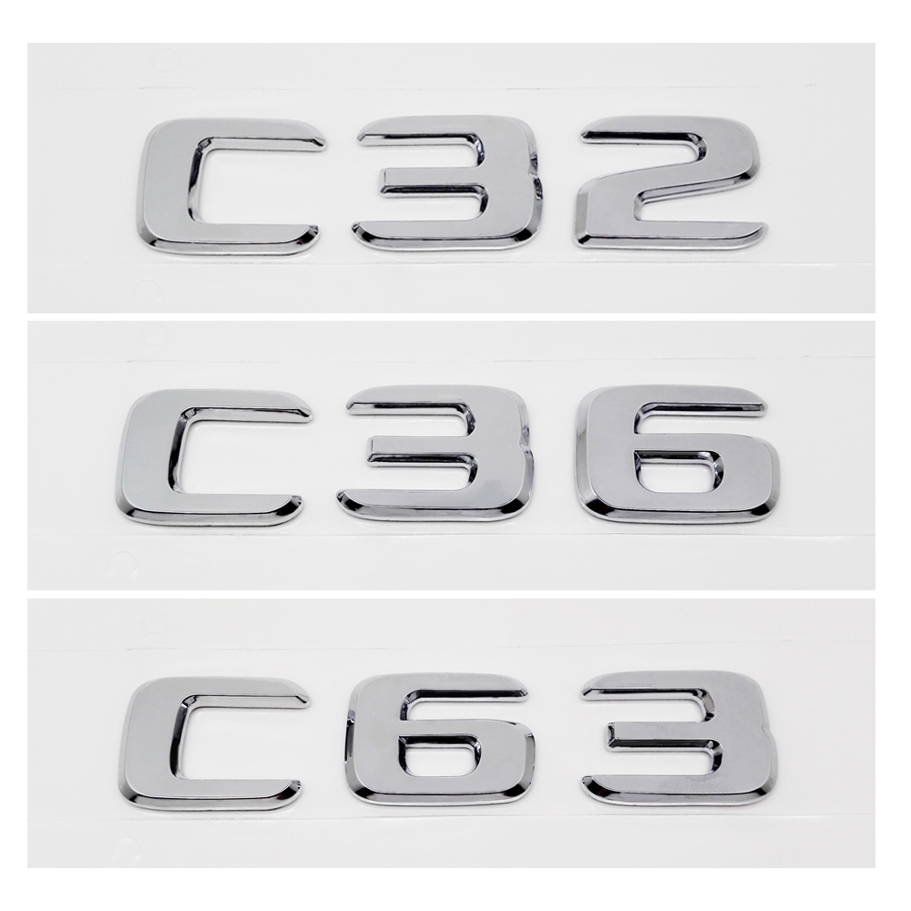 ABS Plastic Numbers Styling Emblem Car Trunk Exterior Accessories For Mercedes BENZ C32 C36 C63 C200 C200L C230 C250 W168 AMG image