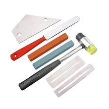 전문 기타 프렛 지판 luthier 수리 관리 도구 키트 그라인딩 스톤 프렛 너트 파일 수호자 기타 액세서리