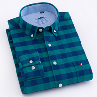 Men S Oxford Cotton Regular Fit Casual Button Down Shirts Long Sleeve Solid Plaid Striped Leisure