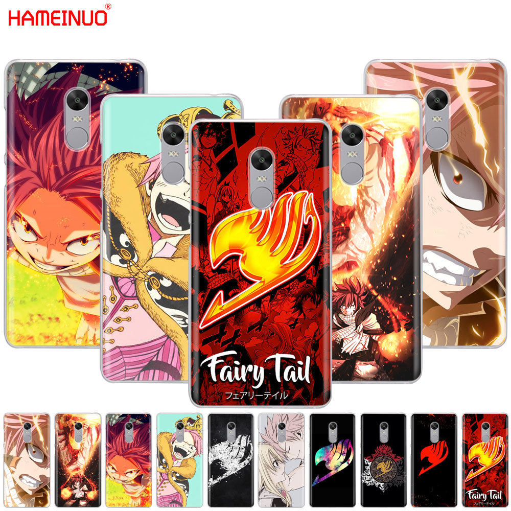 HAMEINUO Anime Fairy Tail Hot BloodCover phone  Case for Xiaomi redmi 5 4 1 1s 2 3 3s pro PLUS redmi note 4 4X 4A 5A