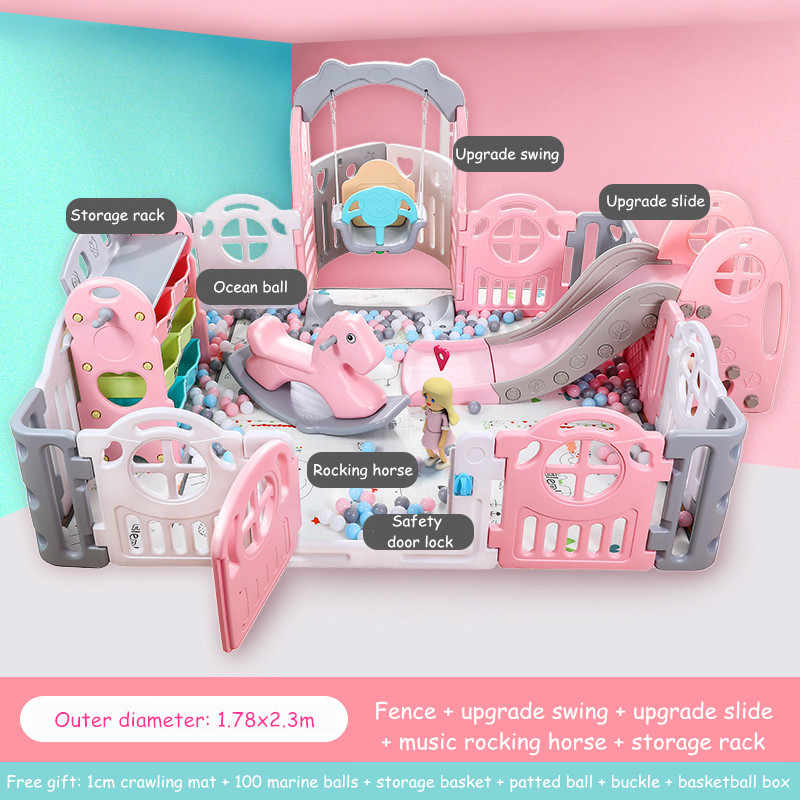 Baby Kids Playpen Indoor Playgrounds Family Amusement Park Baby Fence Game Center Child Safety Fence Barriere De Securite Enfant