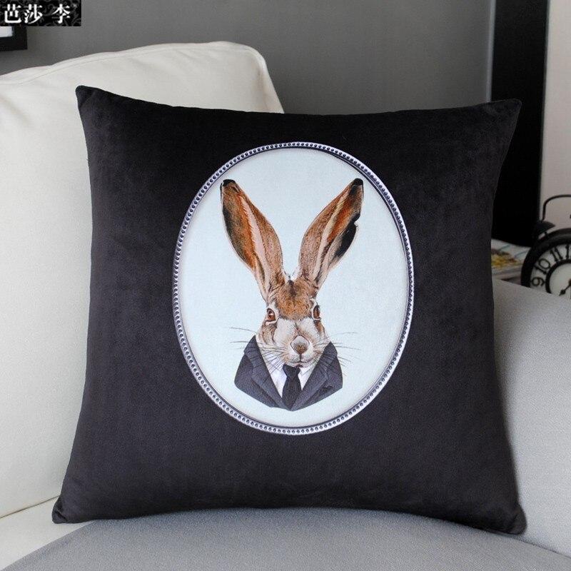 H3116 Free Shipping Vintage . Bunny Soft Velvet Printing