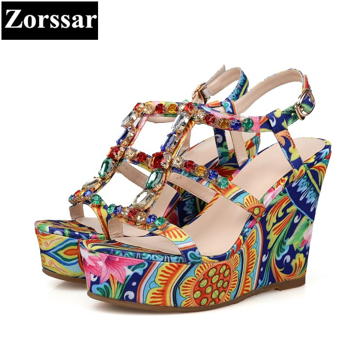 Summer shoes woman wedges rhinestone high heels Roman sandals women platform shoes 2017 New luxury peep toe womens pumps heels phyanic 2017 gladiator sandals gold silver shoes woman summer platform wedges glitters creepers casual women shoes phy3323