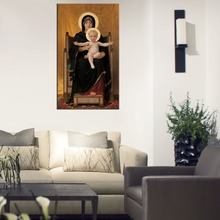The Virgin of the Lilies William Bouguereau Repro Oil Paintings on Canvas Home Decor For Living Room Wholesale