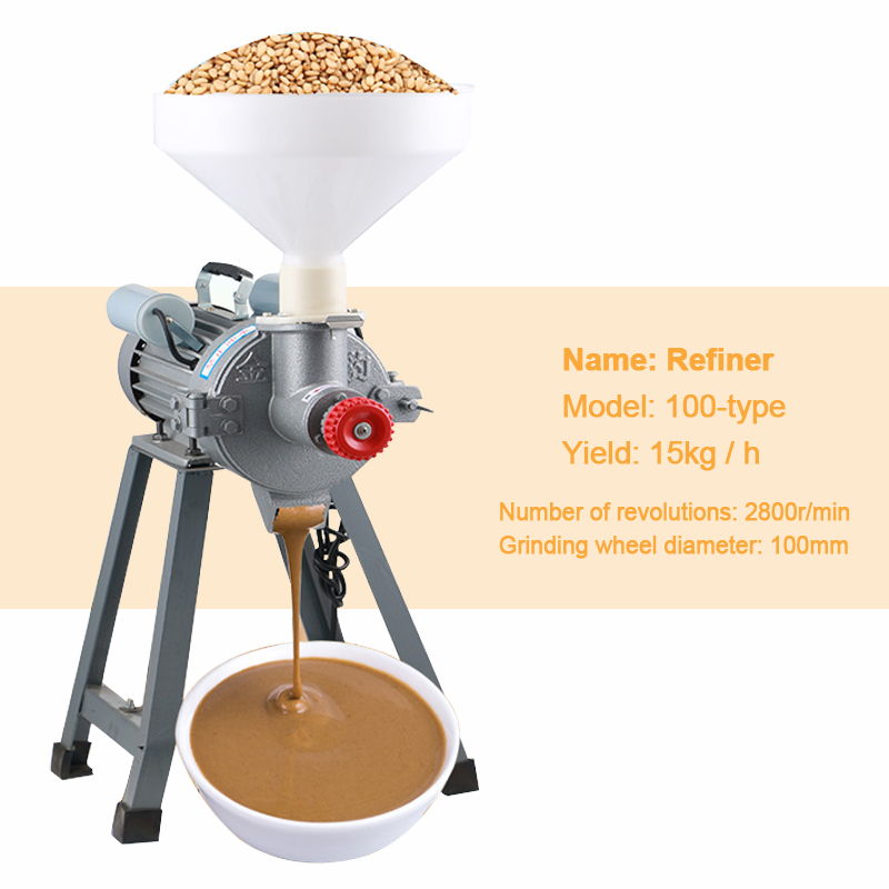 Mute Grinding Refiner Grinding Peanut Butter Mash Sauce Grinder Multifunctional Commercial Sesame Sauce Machine 220v