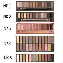 Hot Women 12colors NK12345 Colorful Makeup Eyeshadow super Make up set flash Glitter Nk smoky eye shadow Palette with Brushes