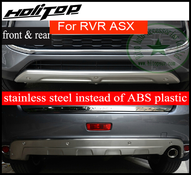 Bumper Protector Skid Plate For Mitsubishi RVR ASX ,front+rear,2pcs, Be
