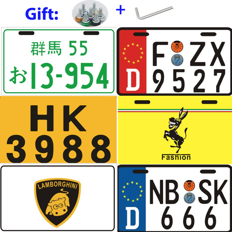 Motorcycle 3D License Plate Motorcycle Electrical Bike Foreign Reflective License Plate Aluminum Tag Jdm Racing Plates