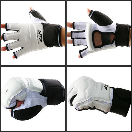 Boxing Gloves: Taekwondo Glove Fighting Hand Protector WTF Approved Martial Arts Sports Hand Guard Boxing Gloves Hand Protective Tool