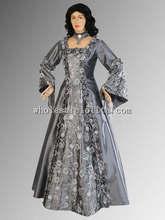 16/17th Century Sivler Medieval Renaissance Gown Dress Multiple Colors Available Costume