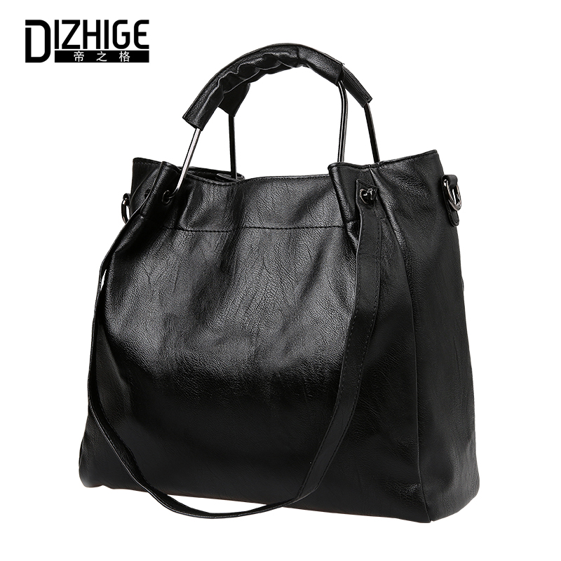 DIZHIGE Women Handbags High Quality Leather Bags Ladies Hand Bags Female Large Capacity Casual Tote Big Woman Bag Shoulder Bags luxury women leather handbags ladies messenger crossbody bag high quality casual tote female big size shoulder bags large bag
