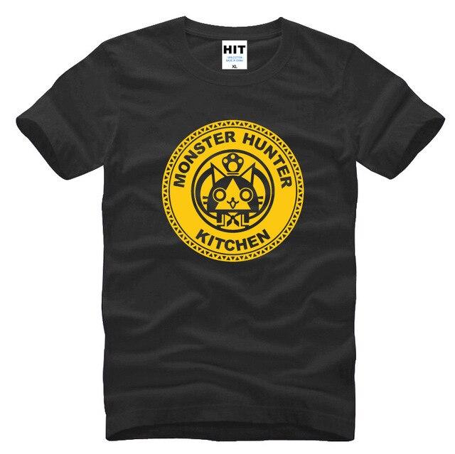 Monster Hunter Funny cartoon spoof Mens Men T Shirt Tshirt Fashion 2016 New Short Sleeve Cotton T-shirt Tee Camisetas Hombre