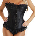 Jusian Women's Sexy Corset Lingerie Boned Bustier Shaper Underwear Black White Blue Red Rose Color XM-036