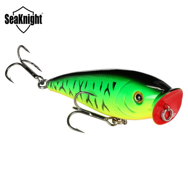 SeaKnight SK029 Topwater Popper Fishing Lure 1PC 95mm 14.5g Plastic Hard Bait Floating Lure Big Mouth Popper Carp Fish Tackle