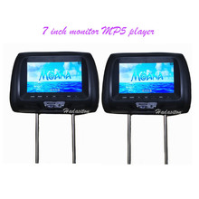 Headrest-Monitor Screen-Car Mp5-Player Universal Support 2pcs MP4 7-Built-In-Speaker/headphone