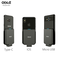 External Power Bank Battery Charger For iPhone XS MAX/Micro USB/Type C Power Case For Samsung S9/Huawei P10/Xiaomi/LG/One plus