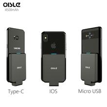 Chargeur de batterie portative externe pour iPhone XS MAX/Micro USB/Type C étui pour samsung S9/Huawei P10/Xiaomi/LG/One plus