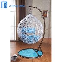 Современный дизайн патио мебель яйцевидной формы качели стул для наружного