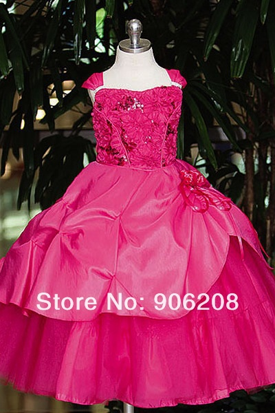 Wedding Ivory/Brown Chocolate Formal Pick Up   Flower     Girl     Dress   Gown Free Shipping Beauty