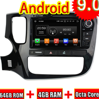 Topnavi 8'' Android 9.0 Car Media Center Auto DVD Radio For Mitsubishi Outlander 2015 GPS Navigation Player Radio 2 Din 4+64GB