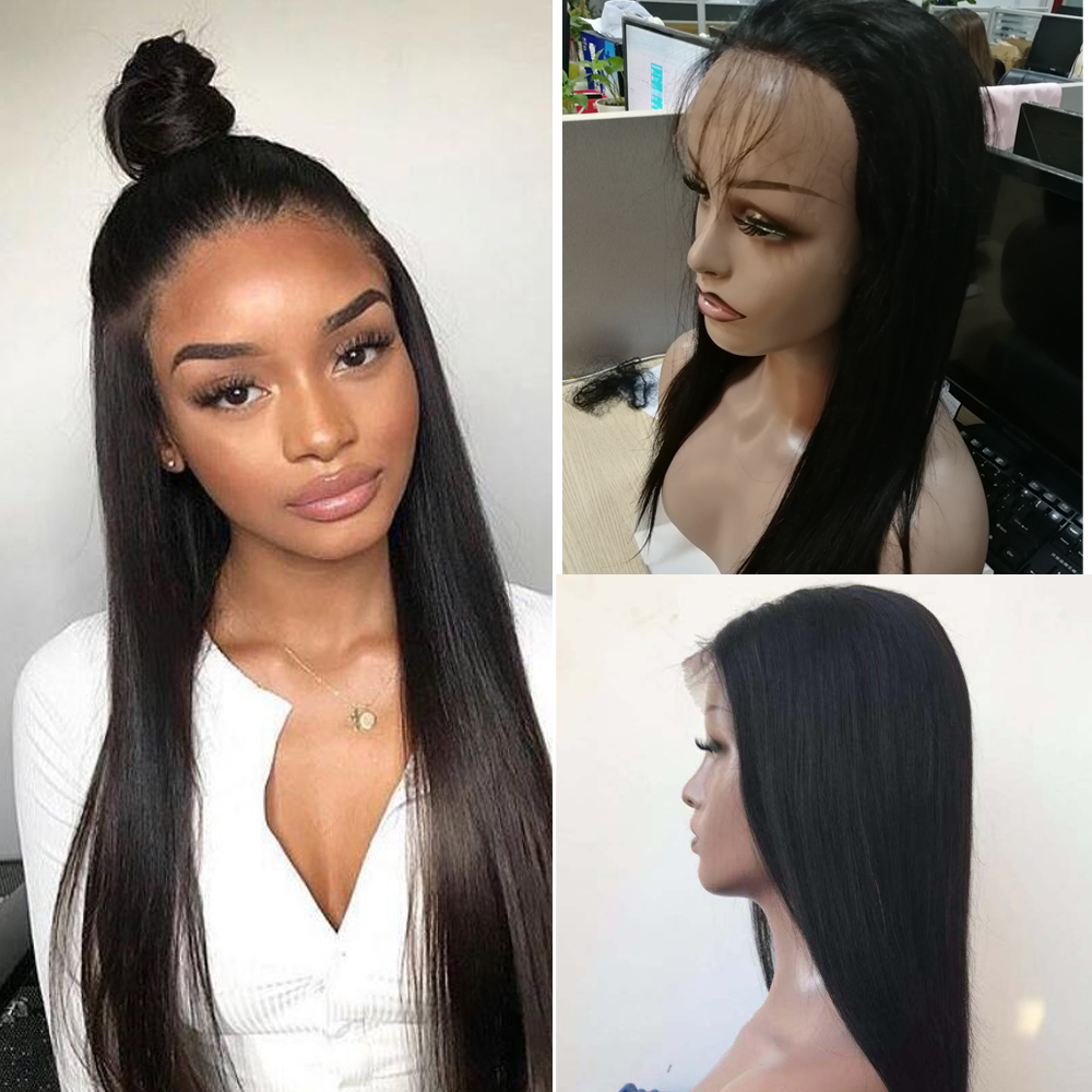 Beaudiva Lace Front Human Hair Wigs For Black Women Straight Full End Malaysian Straight Hair Short