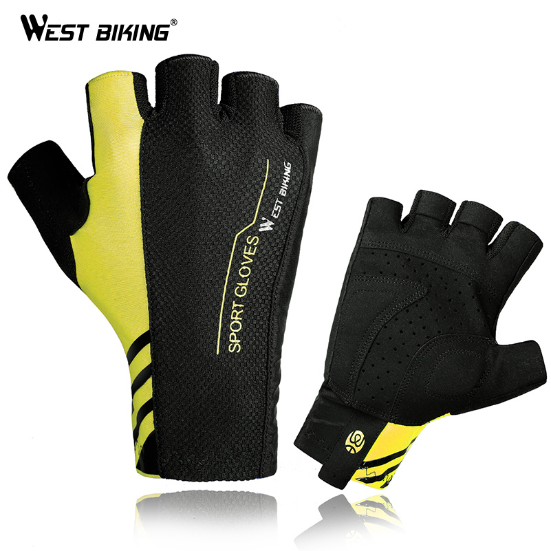 WEST BIKING Summer Cycling Gloves Half Finger Mens Women's Sport Mountain Breathable Bicycle Bike Gloves Gym Guantes Ciclismo longkeeper cycling gloves full finger mens sports breathable anti slip mountain bike bicycle gloves guantes ciclismo