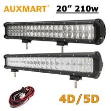"""Auxmart 20 pulgadas LED Light Bar 210 W CREE Chips 20 """"Luz de Trabajo LED 4D/5D Fit 4×4 Camión Remolque ATV RZR Techo Offroad Luz de Conducción"""