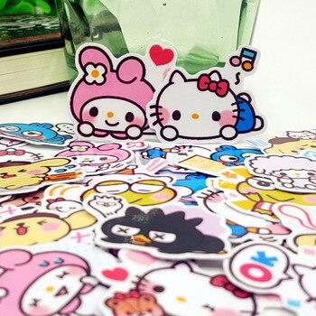 40 sztuk Hello kitty Minna no Tabo album kreskówkowy księga gości dekoracja wodoodporna naklejki DIY Handmade prezent naklejki scrapbooking