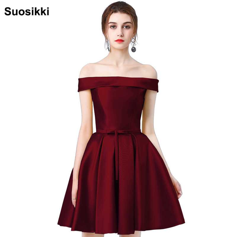 New arrival Gold   prom     dress   short formal evening party   dresses   suosikki robe de soiree plus size wedding party gown