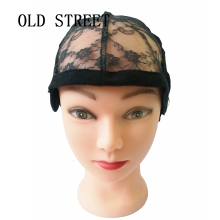 Get more info on the OLD STREET Adjustable Lace Wig Caps for Wig Making Caps Weave Weaving Cap Stretchy Net Mesh Straps Hair Net Dome Caps