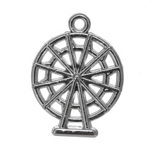 10pcs rhodium plated ferris wheel romantic charms