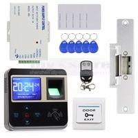 Electric Strike Lokc Fingerprint 125KHz ID Card Reader Door Access Control System Kit Door Bell