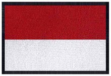 Embroidery flag patches logos of Monaco iron on 3″ wide /barcelona jersey/motorcycle/parches militares
